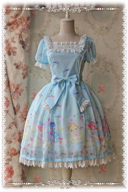 洛丽塔op_Infanta Sleeping Bear Sweet Chiffon Lolita OP Dress