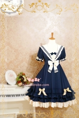 Strawberry Witch Summer Sailor Style Lolita OP Dress