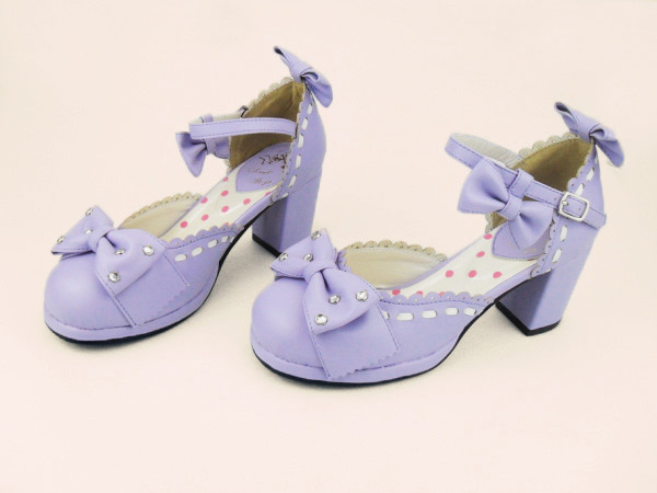 Light Purple & 7cm heel + 1.5cm platform