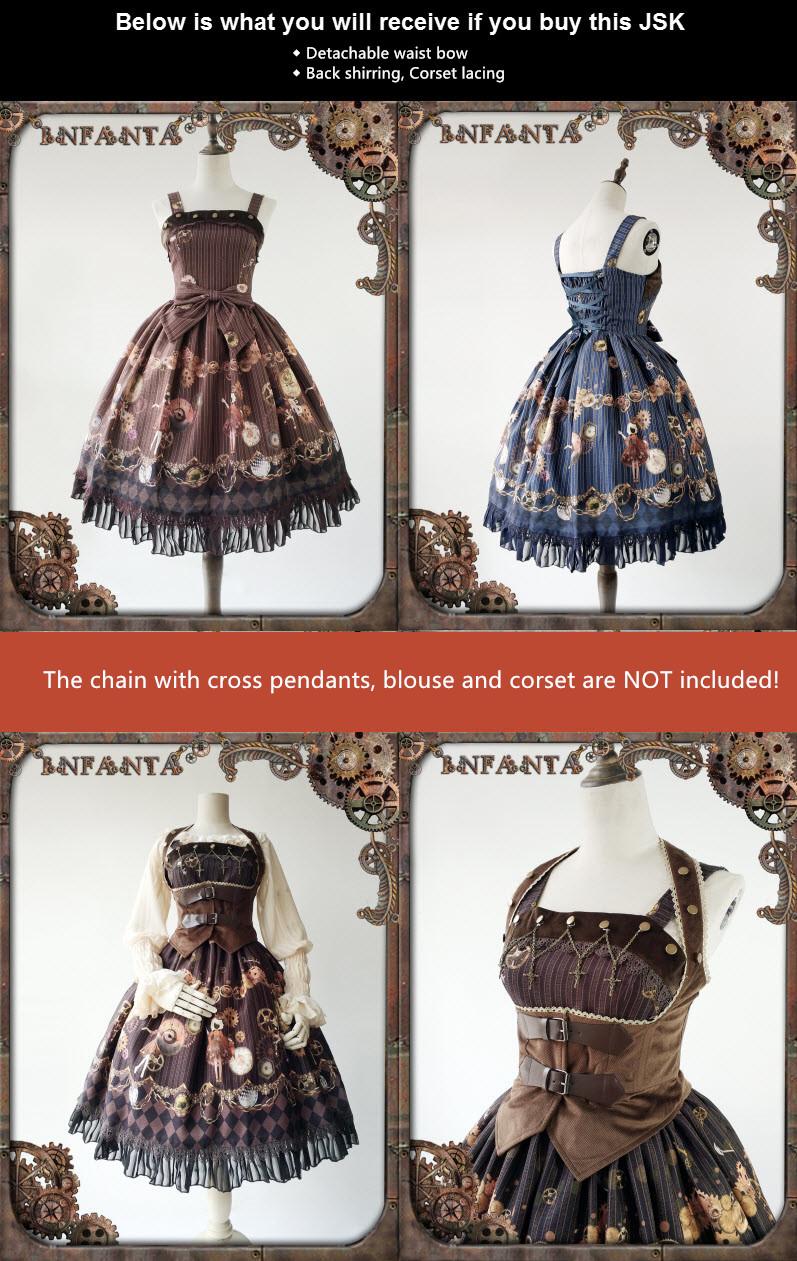 138288d1fb6 Details of Infanta -Antique Mechanical Doll- Steampunk Lolita Jumper Dress