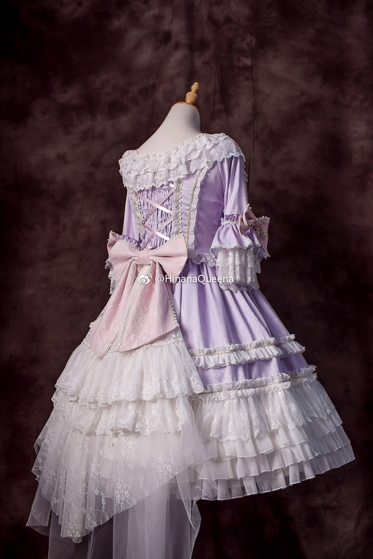 Hinana Moira Classic Lolita Back Veil With Big Bow