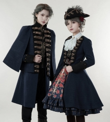 Lost Angel -Spirit of Knight- Embroidery Ouji Lolita Military Lolita Jacket Female Version + Skirt Set