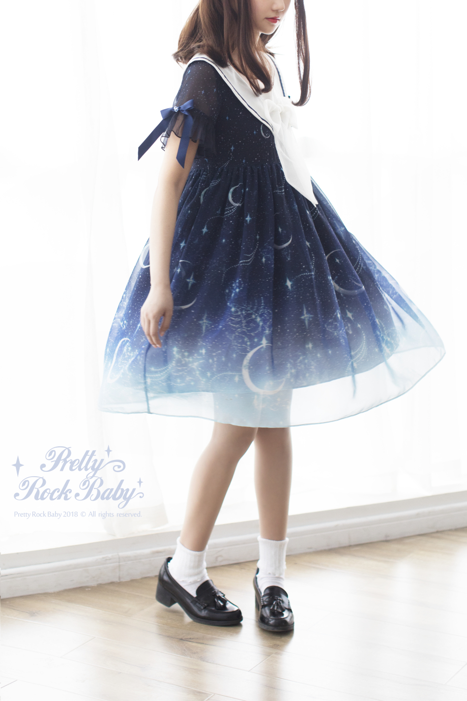 ddbe5453cfd7 Pretty Rock Baby -Starry Night of The Summer- Sailor Lolita OP Dress