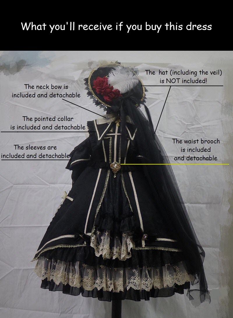41940be21f7bd Details of KD Duck Lolita -The Rose Cross- Gothic Lolita Dress