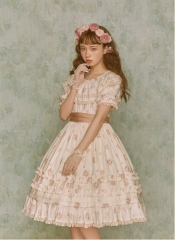 Lullaby -Flower ZhanFang- Vintage Classic Lolita OP Dress Version I