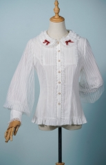 Fantastic Wind -Striped Doll- Vintage Classic Lolita Blouse