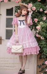 Unideer -Memory of Floria- Lolita OP Dress (Low Neckline Lace Fabric Version)