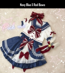 The Cute Sailor Lolita Top Wear and Skirt Set